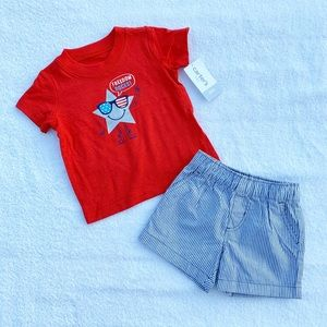 """Carter's """"Freedom Rocks"""" Outfit Size 6 Months NWT"""